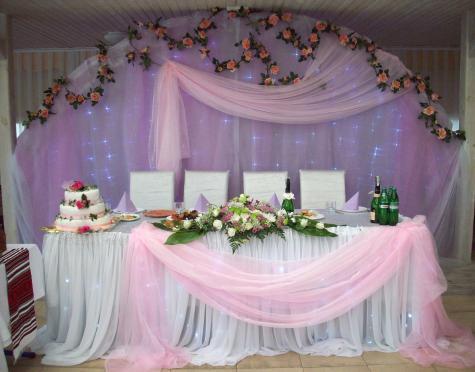 оформление свадебного зала тканью фото - Сумки